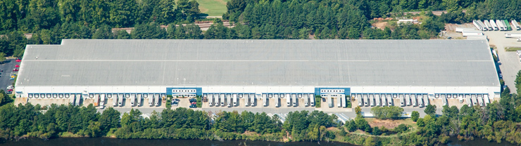 Aerial view of ABW7060 warehouse