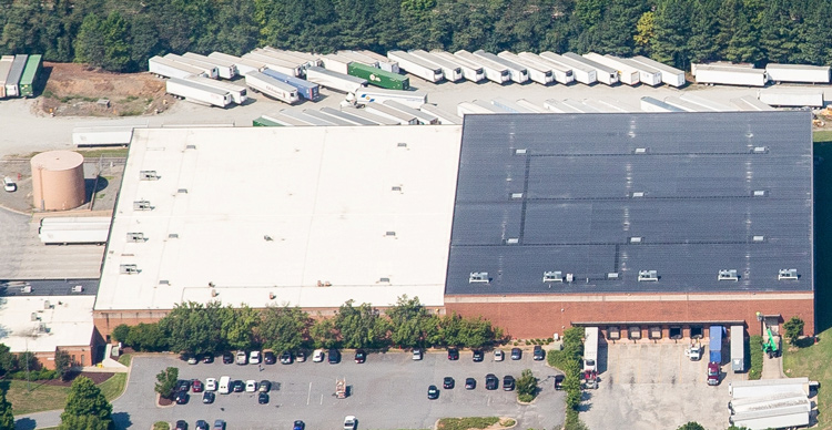 Aerial view of ABW1000 warehouse