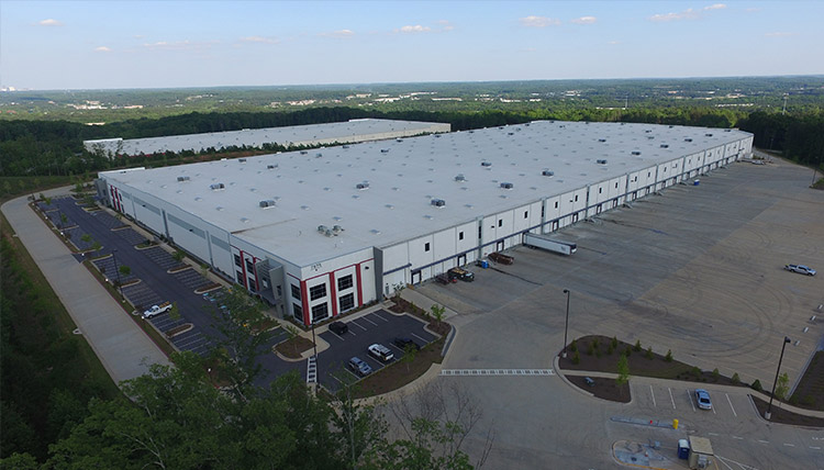 Aerial view of ABW Austell warehouse